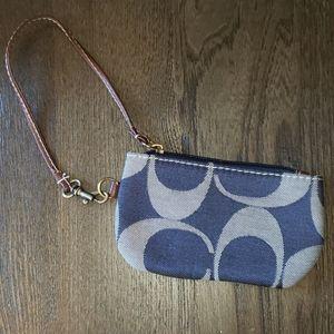 New Fun Embroidered C Denim Fashion Wristlet Bag